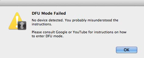 dfu mode failed