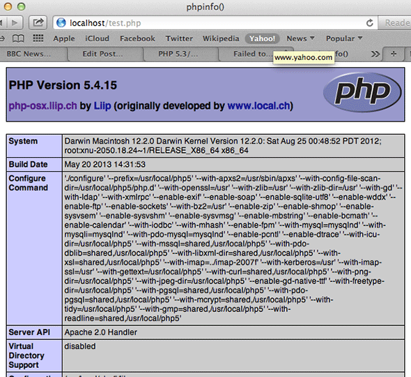 Upgrade to PHP 5.6 or 7 on Mac OSX 10.11 El Capitan and OSX 10.6 – 10.10