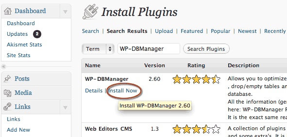 install-wordpress-wp-dbmanager