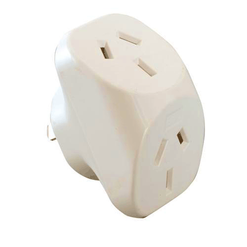 double adapter plug australian