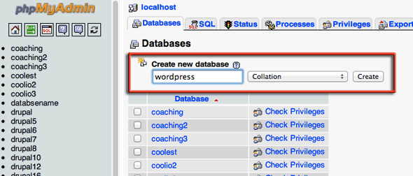 create-database-wordpress-phpmyadmin