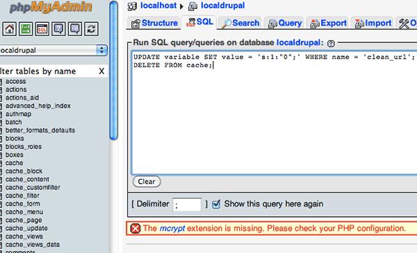 phpmyadmin-delete-cache-url
