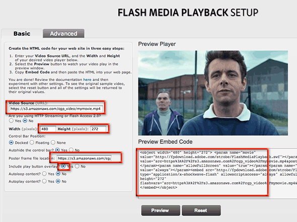 flash-fall-back to html 5 video