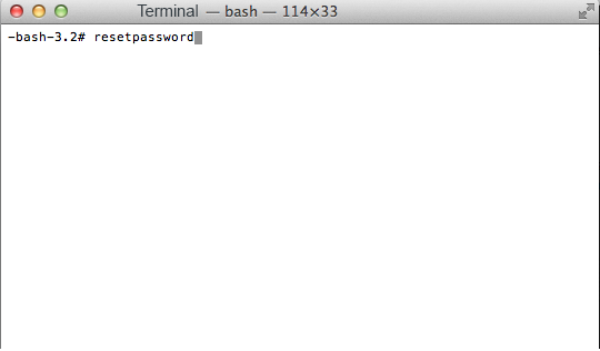 reset password mac mountain lion terminal