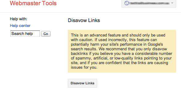 disavow-links-warning