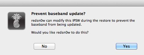 redsnow preserve baseband