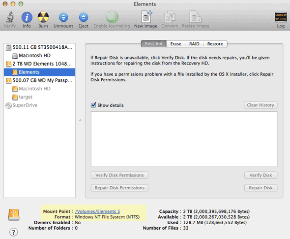 How to format a USB external disk for Mac OSX using Disk