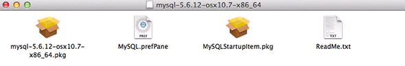mysql install packages osx 10.9
