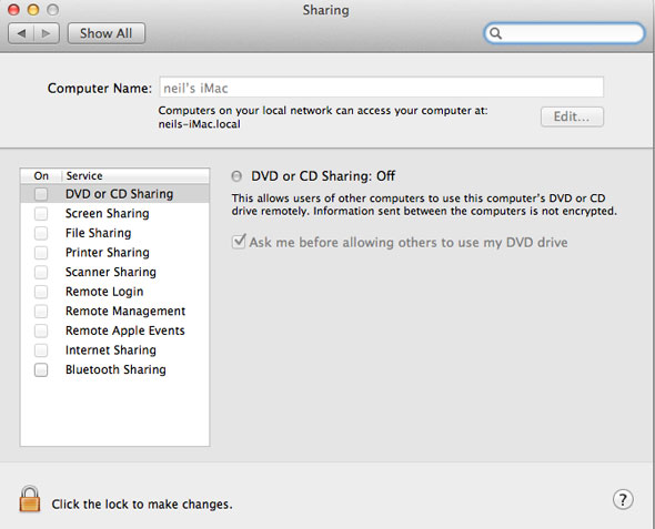 no-web-sharing in Mountain Lion