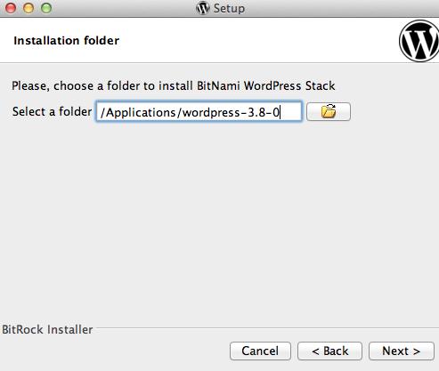 bitnami-start-install-location