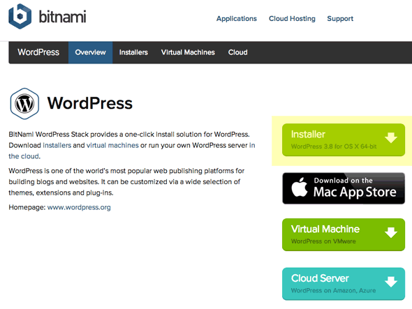 Mac Software Requirements for BitNami WordPress Stack