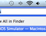 Where is the iPhone iOS Simulator in Xcode 4.6 and Xcode 5