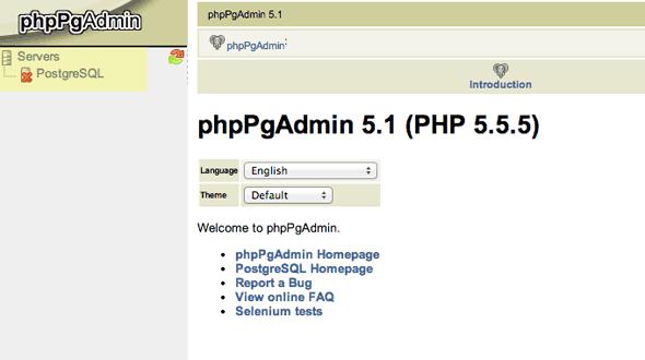 install phppgadmin mac os x