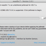 Update Jailbroken iPhone to iOS 7.0 – 7.0.6 Untethered with evasi0n