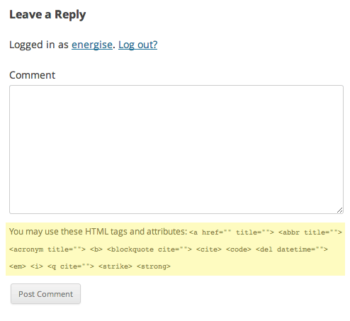wordpress-html-comments