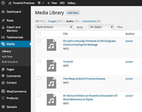 audio-library-wordpress