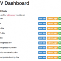 Add Clean Admin Page to View all Sites in VVV Vagrant WordPress Set Up