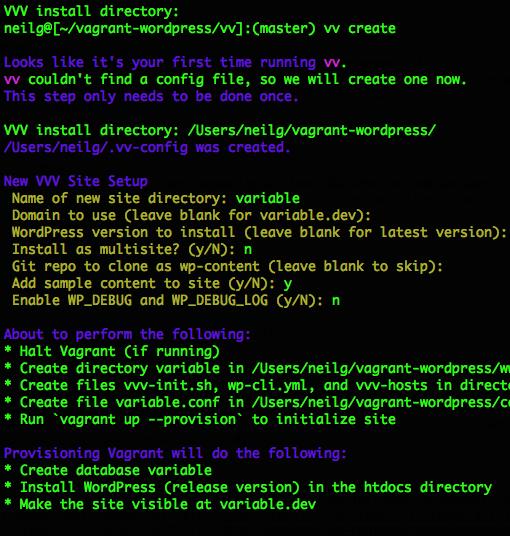 variable-vvv-setup