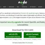 Installing node.js on OSX / macOS Sierra