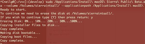 Make A Bootable USB Disk of macOS Sierra