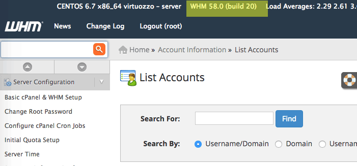 cpanel-whm-version-build