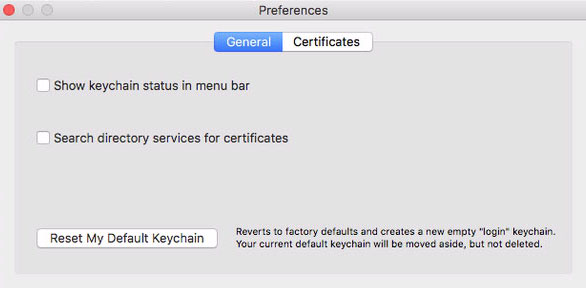 change password keychain mac os x
